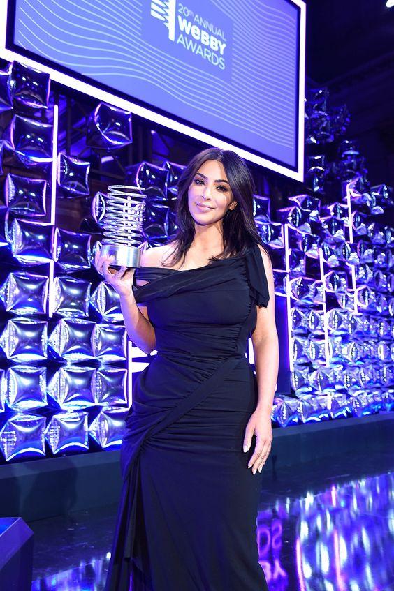 "Kim Kardashian Vows ""Naked Selfies Until I Die"" During Her Webby Awards Speech"