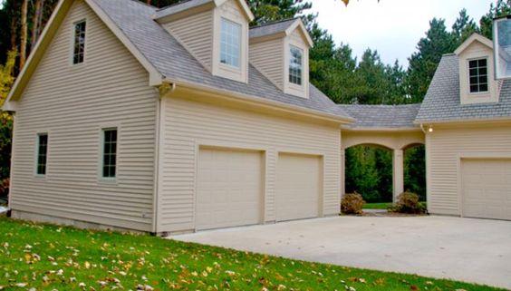 Breezeway garage addition and garage on pinterest for Detached addition