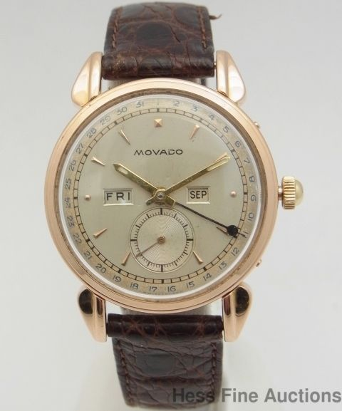 Movado Day Date Month Mens Watch Movado Vintage Antique Watches