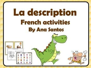 This mini pack of activities about the description in French contains: flashcards with vocabulary, the formation of plural an feminine adjectives, a game, activities to correct the mistakes, two writing activities. | by AnaSantos