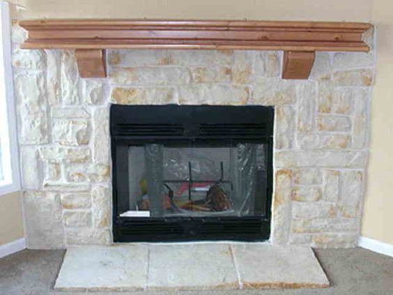 Fireplaces stones and hearth on pinterest for Austin stone fireplace