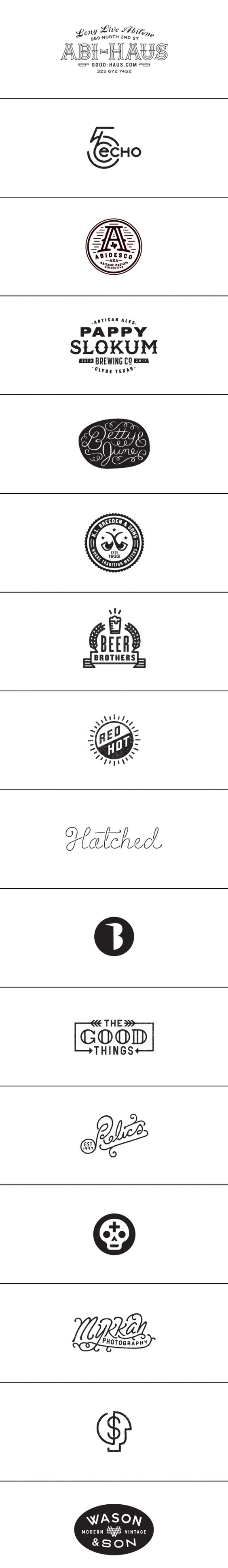 Logo design type illustration