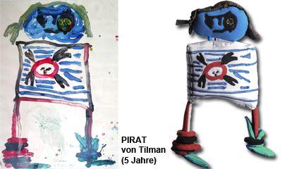 Pirat: Katja Kriegenburg fertigt Puppen Unikate nach Kinderzeichnungen, so eine tolle Idee!!!