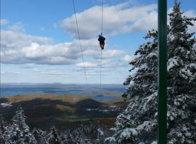 Gunstock Mountain, Gilford, NH.1.5 miles, longest zipline canopy in the continental US.