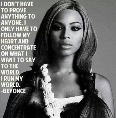 Tell 'em Bey! :)