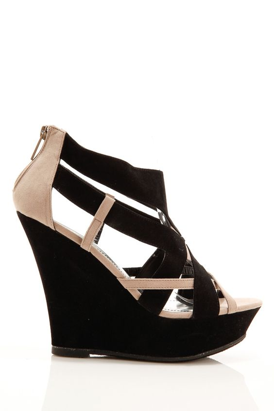 Crisscross Wedge Sandals