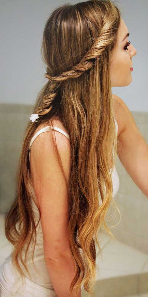Stupendous Hairstyle For Long Hair Long Hair And Cute Hairstyles On Pinterest Hairstyle Inspiration Daily Dogsangcom