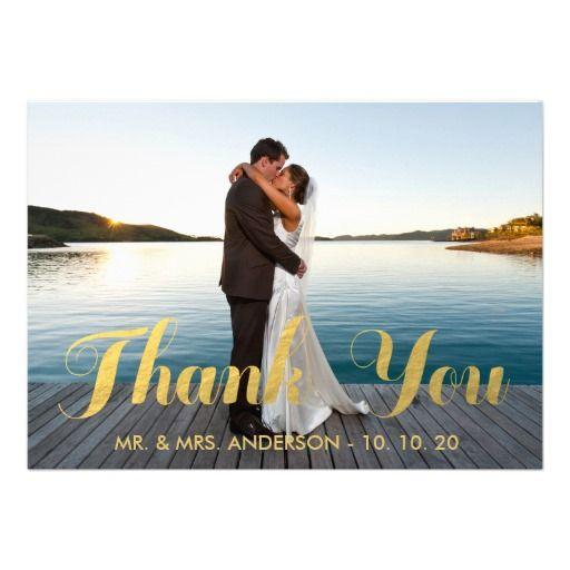 GOLD ELEGANCE – Zazzle Wedding Thank You Cards