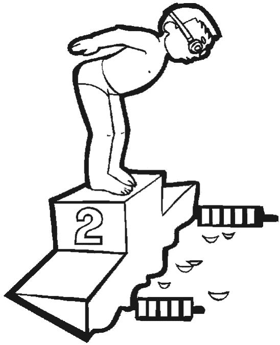 summer swimming coloring pages summer sports coloring pages in lane 2 gets ready to dive