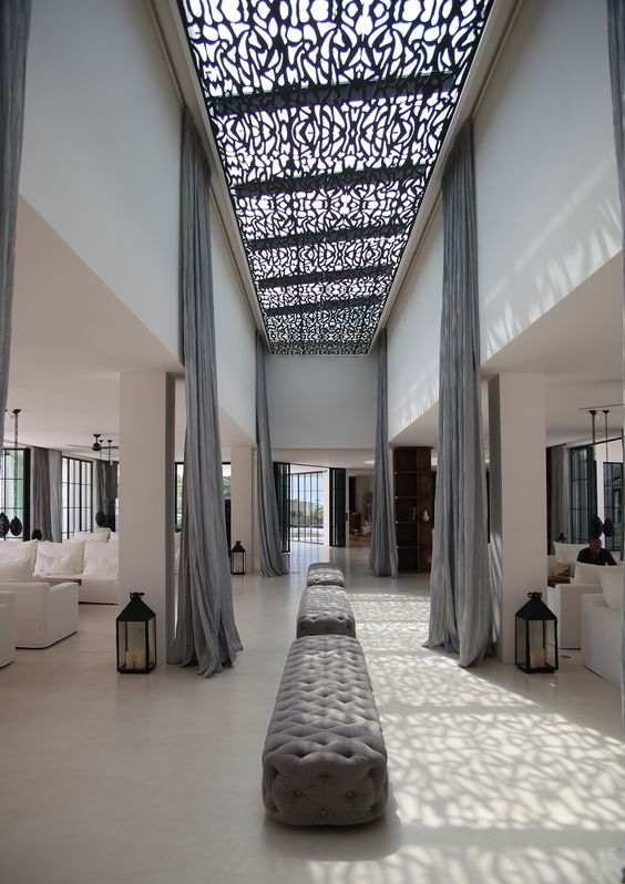 Welcome lobby the resort destino ibiza destino for Lobby ceiling design
