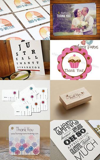 Many Thanks!- Need a beautiful way to say thank you? Here is a collection of handmade thank cards, notes, and postcards from talented Etsy artists.
