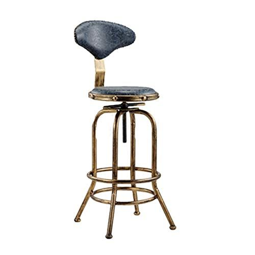 Modern Bar Stools Chairs Counter Chair Retro Industrial Iron Art High Stool Bar Chair For Restaurant Adjustable Bar Stools High Bar Stools Modern Bar Stools
