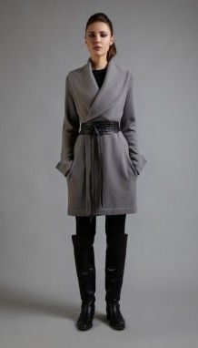Cocoon belted coat