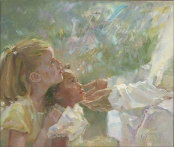 Children of Light  By Anne Marie Oborn. Fine Art Print.