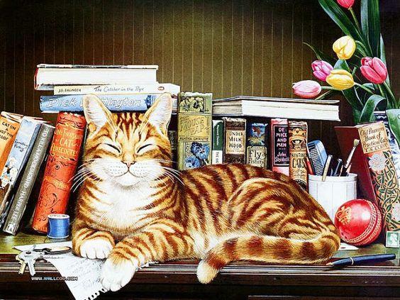 Charles Wysocki's cats: