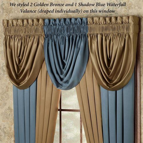 Color Classics R Window Treatments Window Design Waterfall Valance Curtain Decor