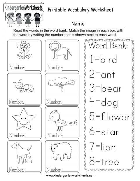 7 Kindergarten Vocabulary Words Worksheet Vocabulary Worksheets Kindergarten Vocabulary English Worksheets For Kids