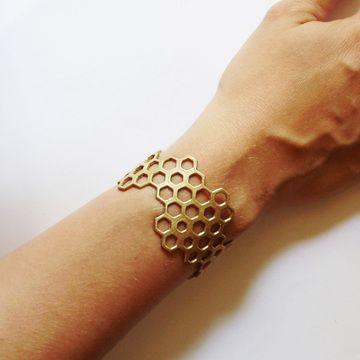 Fab.com | Brass Hive Cuff - StyleSays