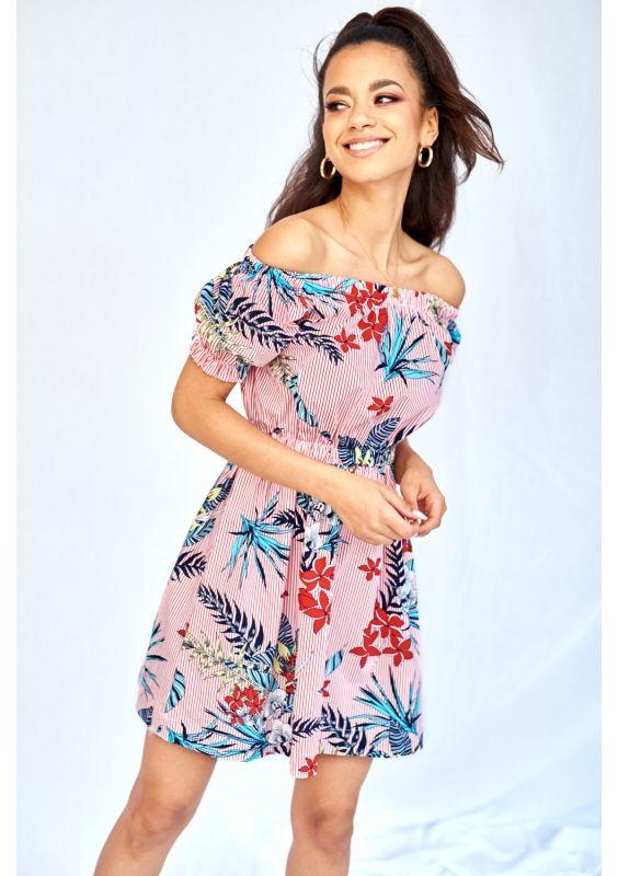Popelinowa Sukienka Z Odkrytymi Ramionami Dresses Fashion Off Shoulder Dress