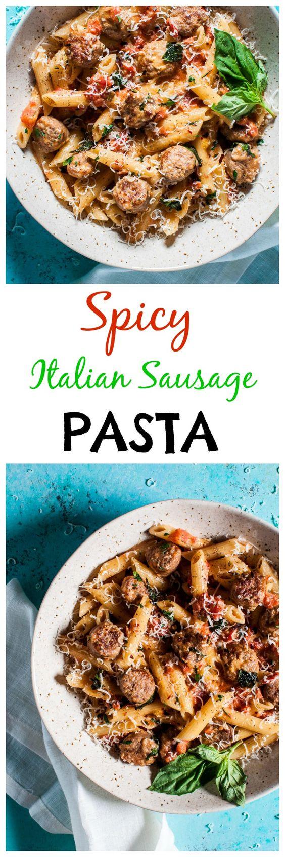 Italian sausage pasta, Sausage pasta and Creamy tomato sauce on ...