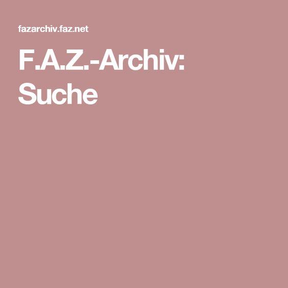 F.A.Z.-Archiv: Suche
