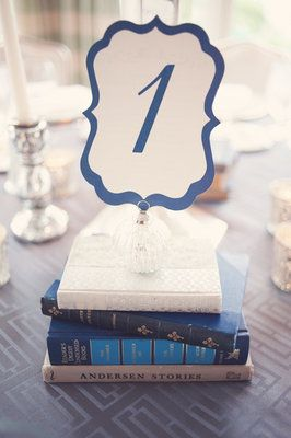 table numbers on books