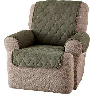 Innovative Textile Solutions Faux Suede Furniture Recliner Slipcover Upholstery: Sage