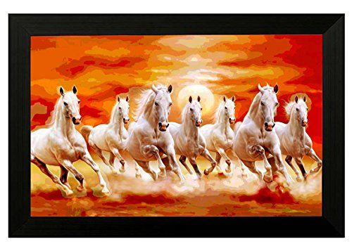 M R P 1 800 00 Price 399 00 Sale 349 00 55 00 Delivery Charge You Save 1 451 00 81 Horse Wall Art Horse Painting Seven Horses Painting
