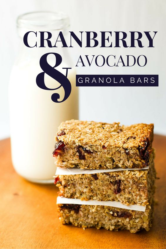 Cranberry avocado granola bars {vegan}: