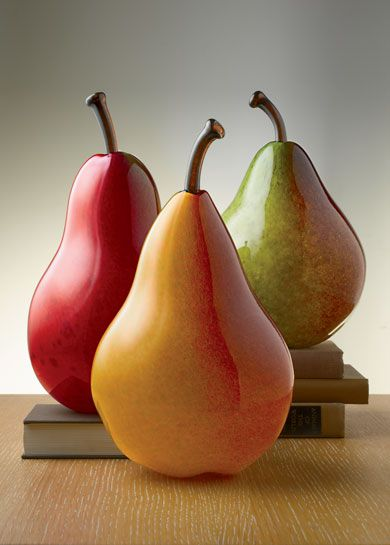 Art Glass Pears. Perfect for the kitchen - as long as you remember not to bite into them!  ~ebm  #LGLimitlessDesign #Contest