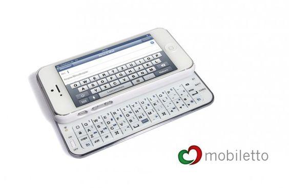 Mobiletto iPhone 5 Keyboard Case weiß