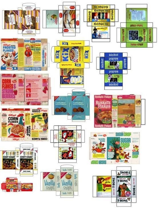 graphic regarding Printable Dollhouse referred to as grocery printables bundle printables miniature printables