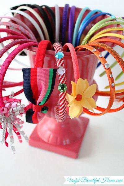 Organizador de diademas - Organizing Headbands - brilliant!!!