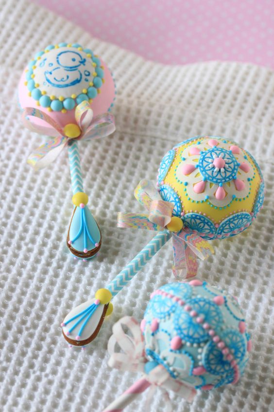 Julia M Usher, Recipes for a Sweet Life: Video Release: How to Make 3-D Baby Rattle Cookies (with a Surprise Gender Reveal!)