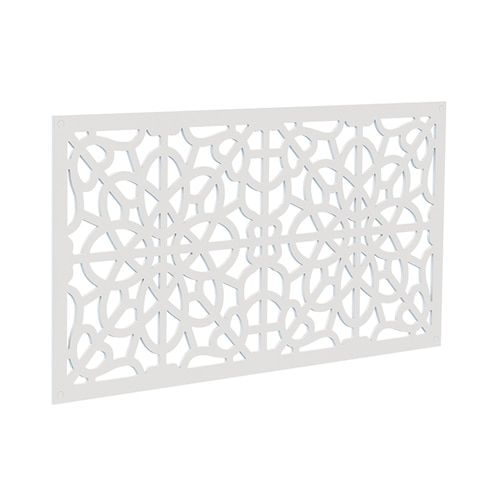 Freedom 1 In X 48 In X 2 Ft Fretwork White Polypropylene Decorative Screen Panel Lowes Com Decorative Screen Panels Decorative Screens White Vinyl