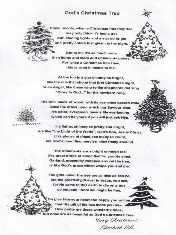 legend of the christmas tree poem - Google Search | CHRISTMAS, My ...