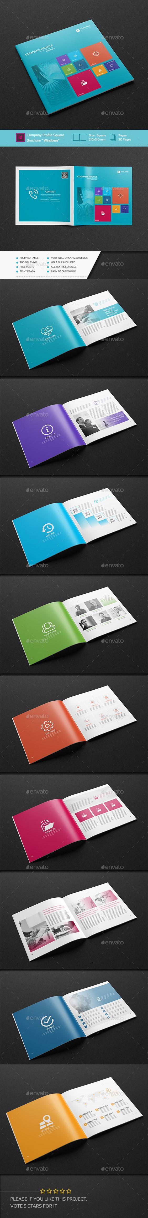 """Company Profile Square Brochure """"Windows"""""""