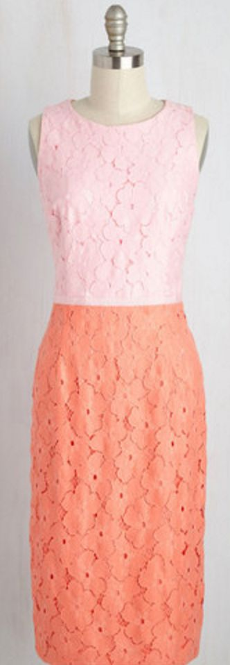 Sherbert Colors Shell Dress