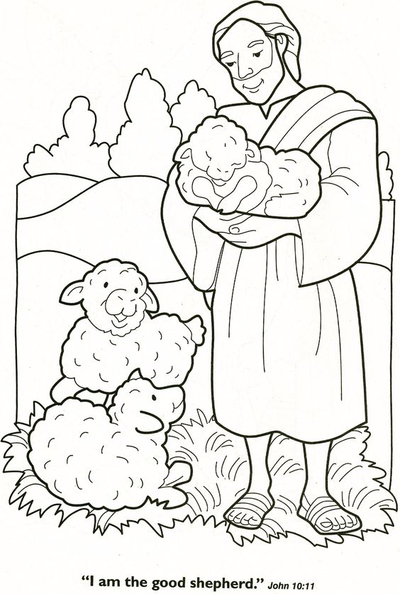 Jesus Lamb Of God And Good Shepehrd Coloring Pages
