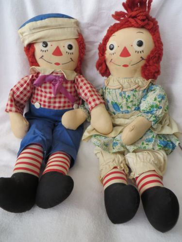 VINTAGE-RAGGEDY-ANN-AND-ANDY-DOLLS