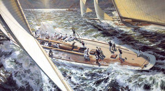 Russ Kramer's The Great Race: COLUMBIA vs. SHAMROCK II, 1901