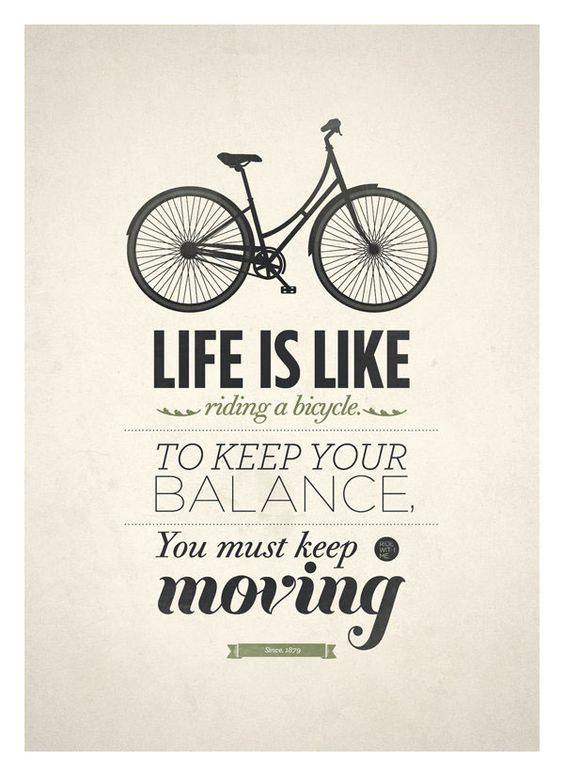 Keep biking