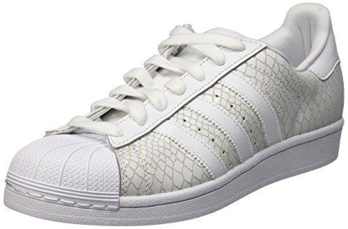 adidas Damen Superstar Sneakers, Weiß (Ftwr White/Ftwr White/Ftwr White), 36 2/3 EU - http://uhr.haus/adidas/36-2-3-eu-adidas-superstar-sneaker-damen-7-5-uk-41-1-3