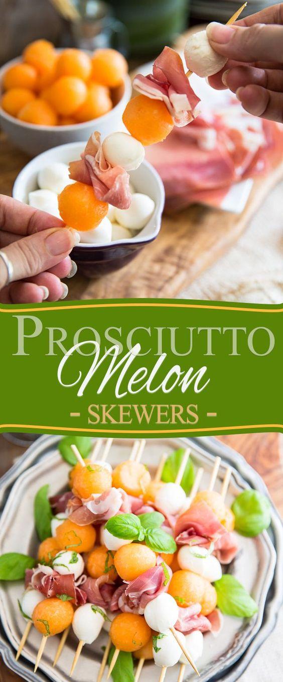 Prosciutto Melon Skewers