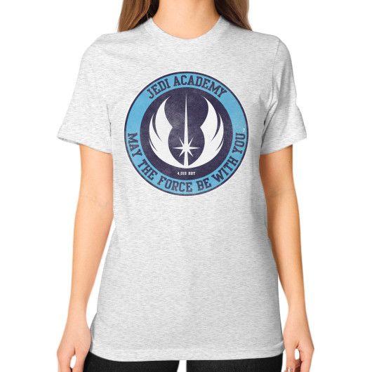 Jedi Academy Est 4019 BBY Unisex T-Shirt (on woman)