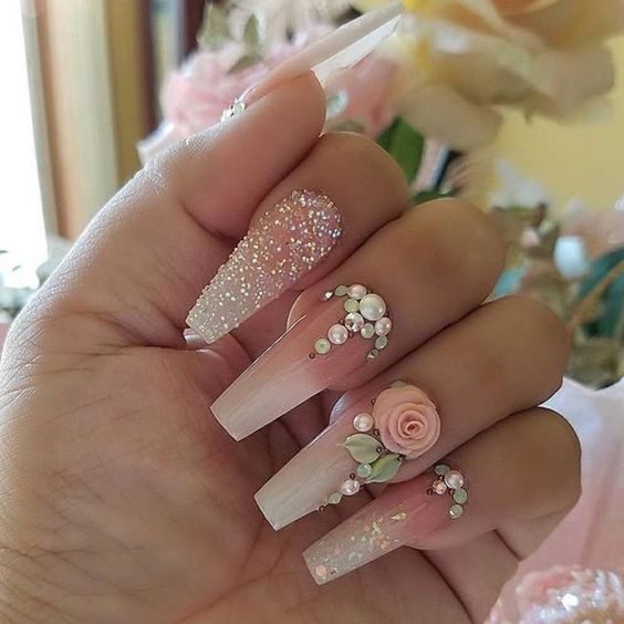 Are You Looking For Classy Wedding Nail For Bride See Our Collection Full Of Classy Wedding Nail For Bride A Wedding Nails Design Nail Art Wedding Bride Nails
