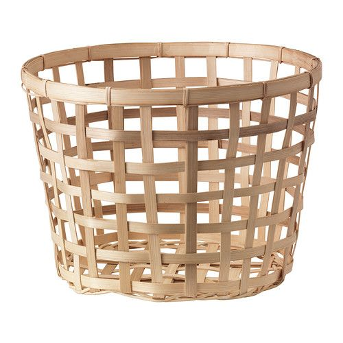 IKEA GADDIS Basket Natural 32 Cm Each Basket Is Woven By Hand And Is  Therefore Unique.
