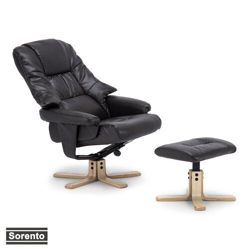17 Stories Hintz Manual Swivel Recliner with Footstool