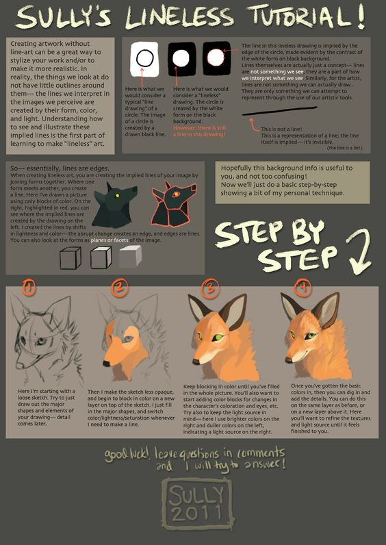 how to draw lineless art
