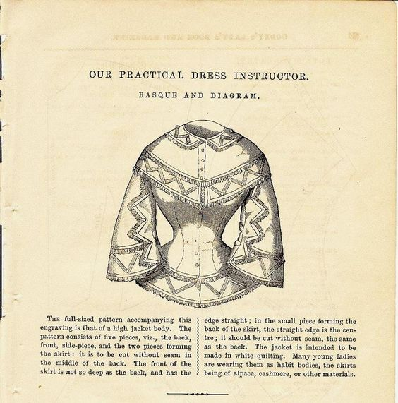 Illustration, instructions and pattern diagram for a Lady ...